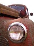 gammal lastbil för billykta Royaltyfri Fotografi