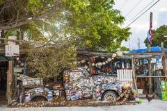 Gammal lastbil på Bosfiskvagnen, Key West, Florida Royaltyfri Fotografi