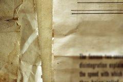 Gammal legitimationshandlingar Arkivbild