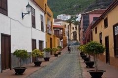 gammal liten tenerife town Fotografering för Bildbyråer