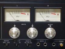 gammal ljudsignalutrustning Arkivfoton