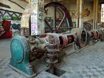 gammal lokal för motor Arkivbild