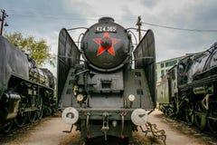 gammal lokomotiv royaltyfri bild