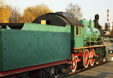 Gammal lokomotiv i Brest Vitryssland royaltyfria bilder