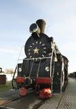 Gammal lokomotiv i Brest Vitryssland Arkivfoto