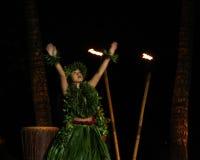 gammal luau för dansarehawaii lahaina Arkivbilder