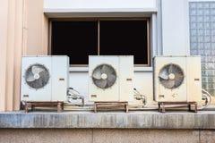 Gammal luftkompressor Fotografering för Bildbyråer