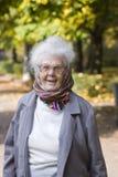 gammal lycklig lady arkivfoto