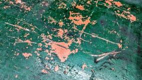 Gammal målad metalltabell i gräsplan och orange sliten tid vektor illustrationer
