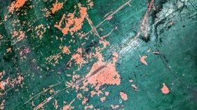 Gammal målad metalltabell i gräsplan och orange sliten tid royaltyfri illustrationer