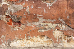 Gammal målad murbruktextur Royaltyfria Foton