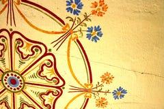 gammal målad vägg Arkivfoton