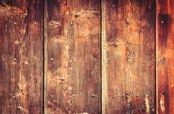 Gammal målad wood vägg - textur eller bakgrund Arkivfoto
