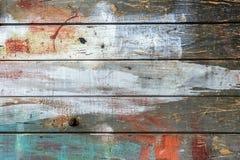 Gammal målad wood vägg - textur eller bakgrund Royaltyfri Fotografi
