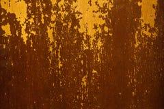 Gammal målad yttersida med slitning och sprickor Royaltyfri Bild