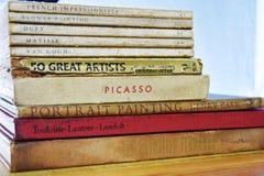 Gammal målare Books - Dufy, Matisse, Van Gogh Picasso royaltyfria foton