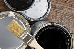 Gammal målarfärg kan lock royaltyfri foto