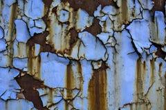 Gammal målarfärg på metall Royaltyfri Bild