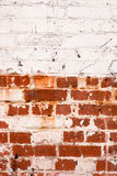 gammal målarfärgvägg för tegelsten Royaltyfria Foton