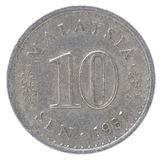 Gammal malaysisk sen mynt Fotografering för Bildbyråer
