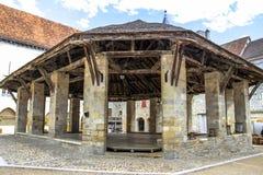 Gammal marknad av Martel, lott, Midi-Pyrénées, Frankrike Fotografering för Bildbyråer