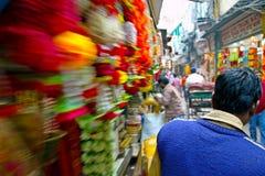 Gammal marknad New Delhi arkivfoto