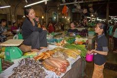 Gammal marknad Siem Reap Arkivfoton
