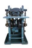 Gammal maskin som skrivar ut biljetten Arkivfoto