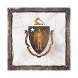 Gammal Massachusetts flagga Arkivbild