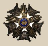 gammal medalj arkivfoto