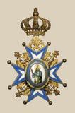 gammal medalj arkivbilder