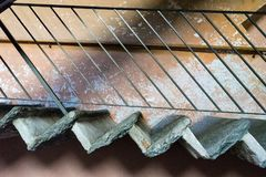 Gammal medelhavs- sikt för trappatrappuppgångsida Royaltyfri Fotografi