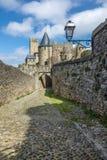 La Cité, Carcassonne Arkivbild