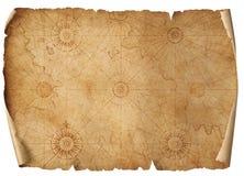 Gammal medeltida nautisk översikt isolerad illustration 3d stock illustrationer