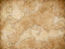 Gammal medeltida nautisk Europa översikt royaltyfri illustrationer