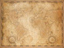 Gammal medeltida nautisk tappningvärldskarta vektor illustrationer