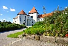 Gammal medeltida slott i Varazdin Arkivfoto
