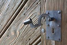 gammal metall för dörrhandtag Royaltyfria Foton