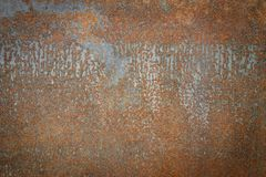 Gammal metall Rusty Sheet For Design Decoration royaltyfria bilder
