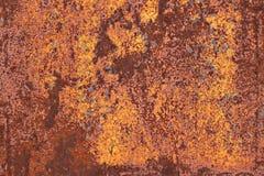 Gammal metall som är rostig med sprucken målarfärg Arkivfoto