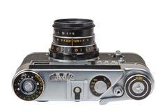 Gammal metallfilmkamera Arkivfoto