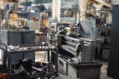 Gammal metallmalningmaskin fotografering för bildbyråer