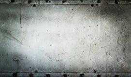 Gammal metallplatta fotografering för bildbyråer