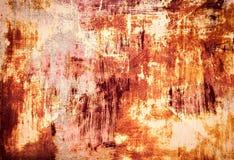Gammal metallplatta med sprucken målarfärg Arkivfoto