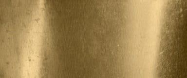 Gammal metalltexturbakgrund i guld royaltyfri bild