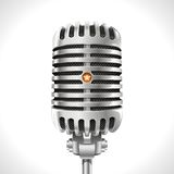 Gammal mikrofon Arkivbilder