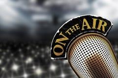 Gammal mikrofon för ett offentligt anförande Royaltyfri Foto