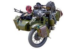 Gammal militär motorcykel Royaltyfri Bild
