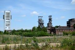 Gammal min i Bytom Polen Arkivbild