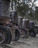 Gammal minetowntraktorkyrkogård Arkivfoto